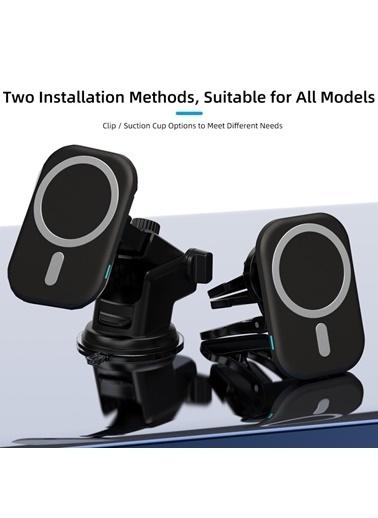 Techmaster 15w iPhone 12 Pro Max Magsafe Kablosuz Araç Manyetik şarj Aleti Renkli